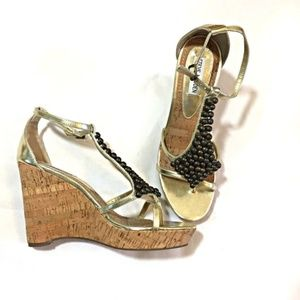 Steve Madden Thong Wedge Sandals Size 10
